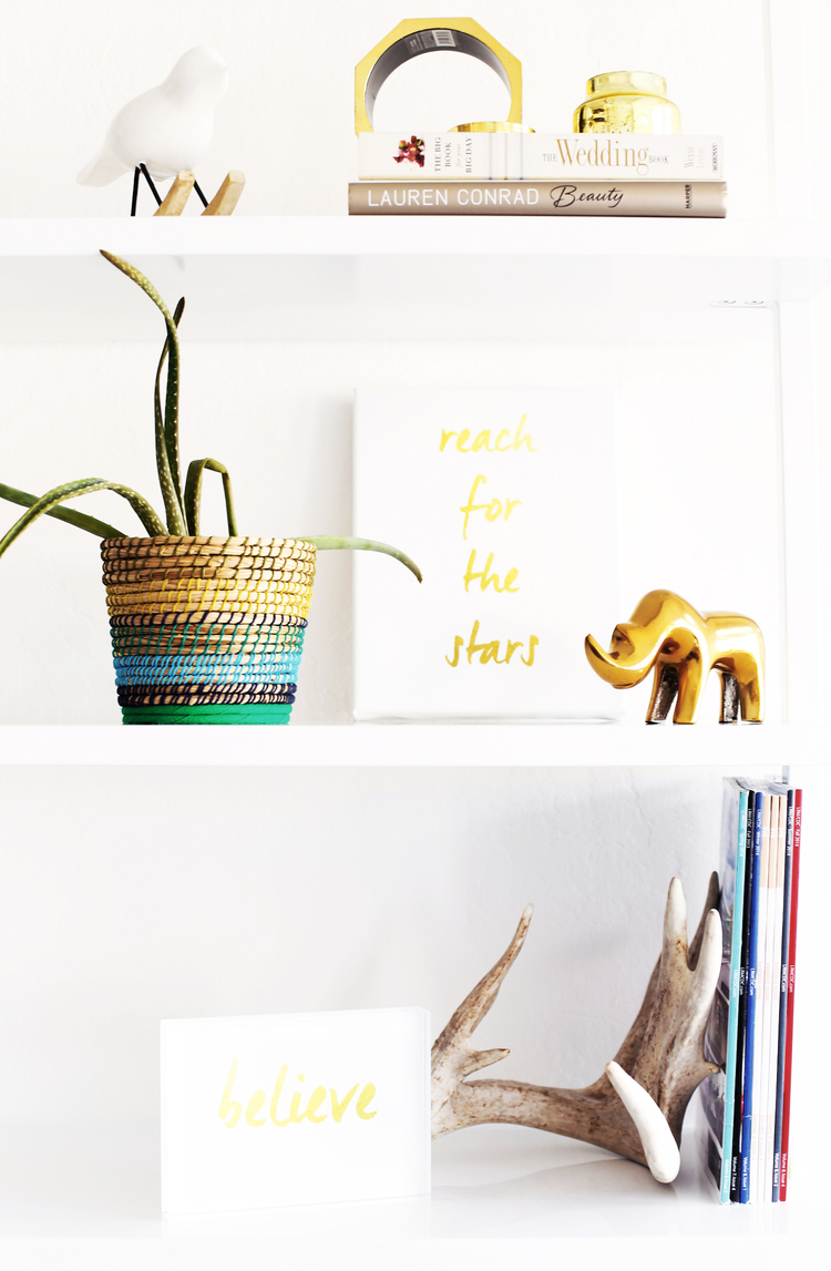 DIY Gold Office Supplies