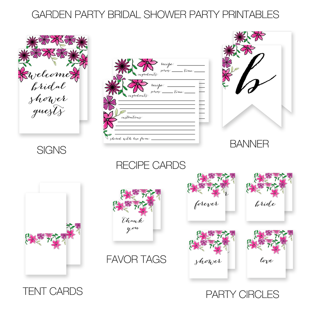 bridal shower party printables