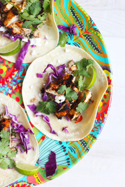 chipotle mango chicken tacos