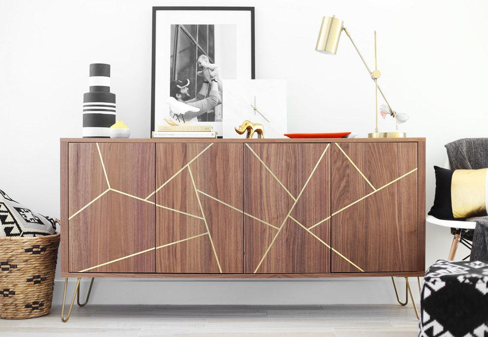 Ikea Metal Credenza : Office credenza ikea light wood desk furniture small