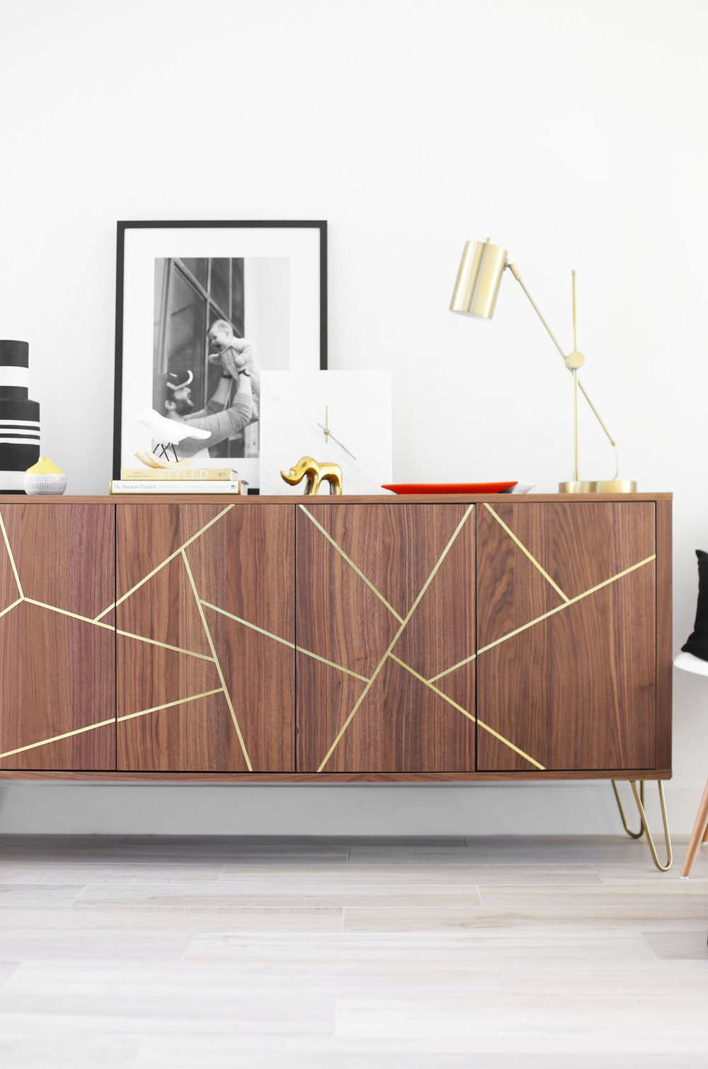 midcentury modern ikea hack sideboard kristi murphy diy ideas. Black Bedroom Furniture Sets. Home Design Ideas