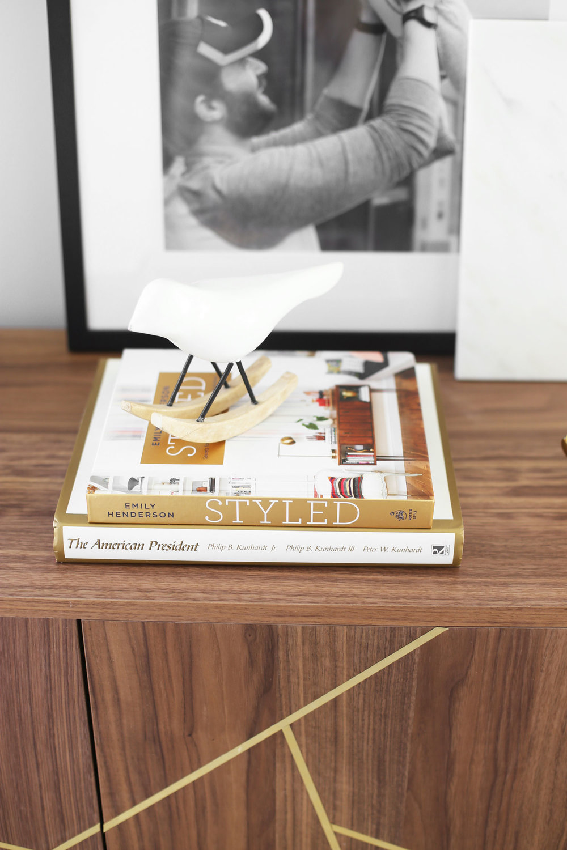Emily Henderson Styled book sideboard IKEA hack