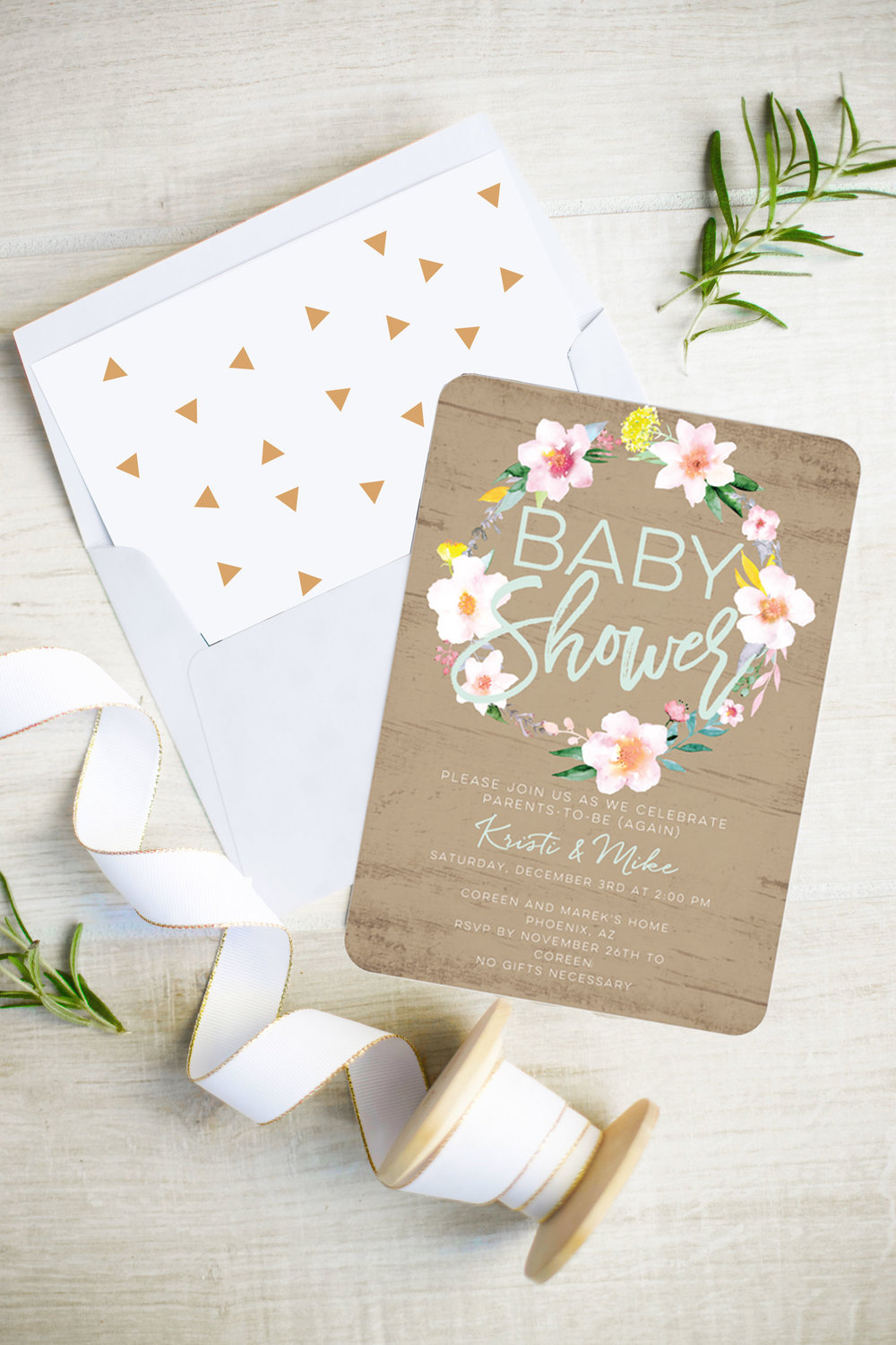 unisex baby shower invitation