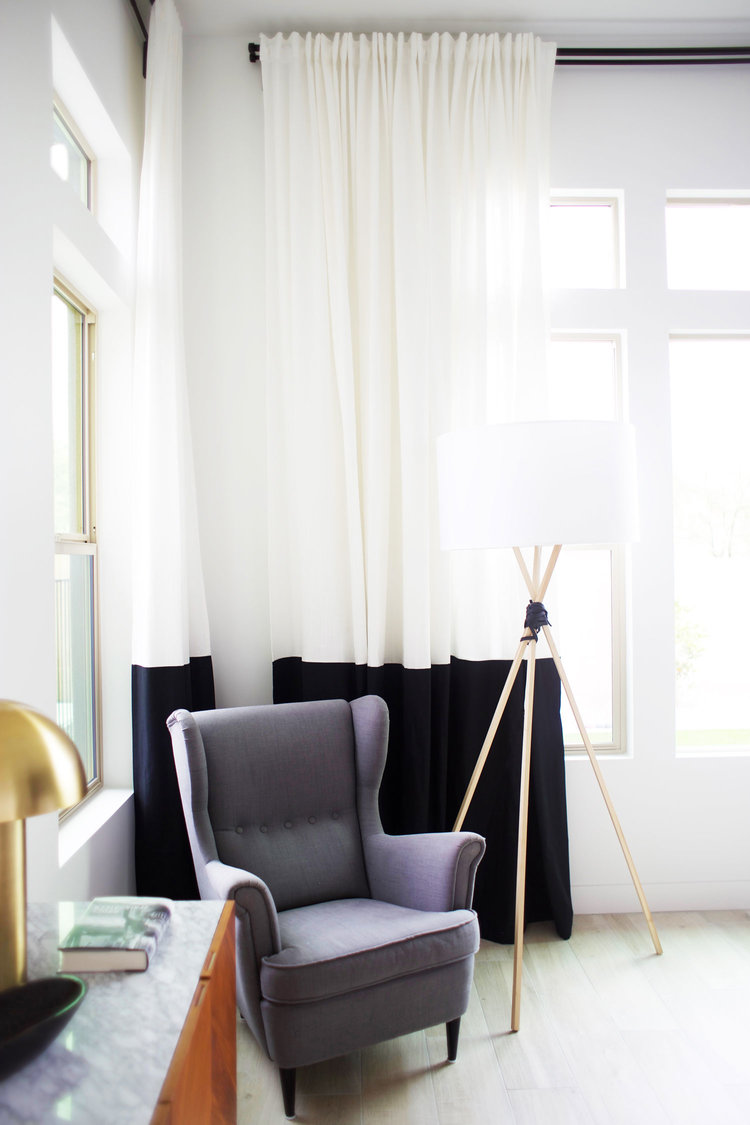 No Sew IKEA Hack Curtains Kristi Murphy