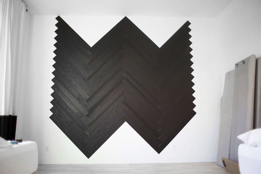 DIY herringbone wall step 4