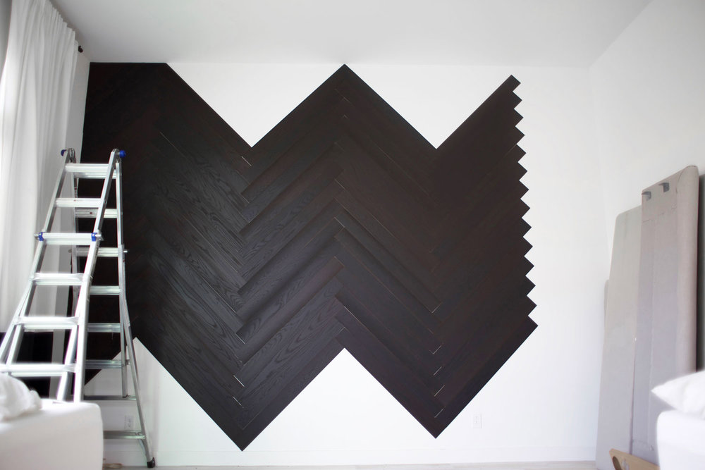 DIY herringbone wall step 8