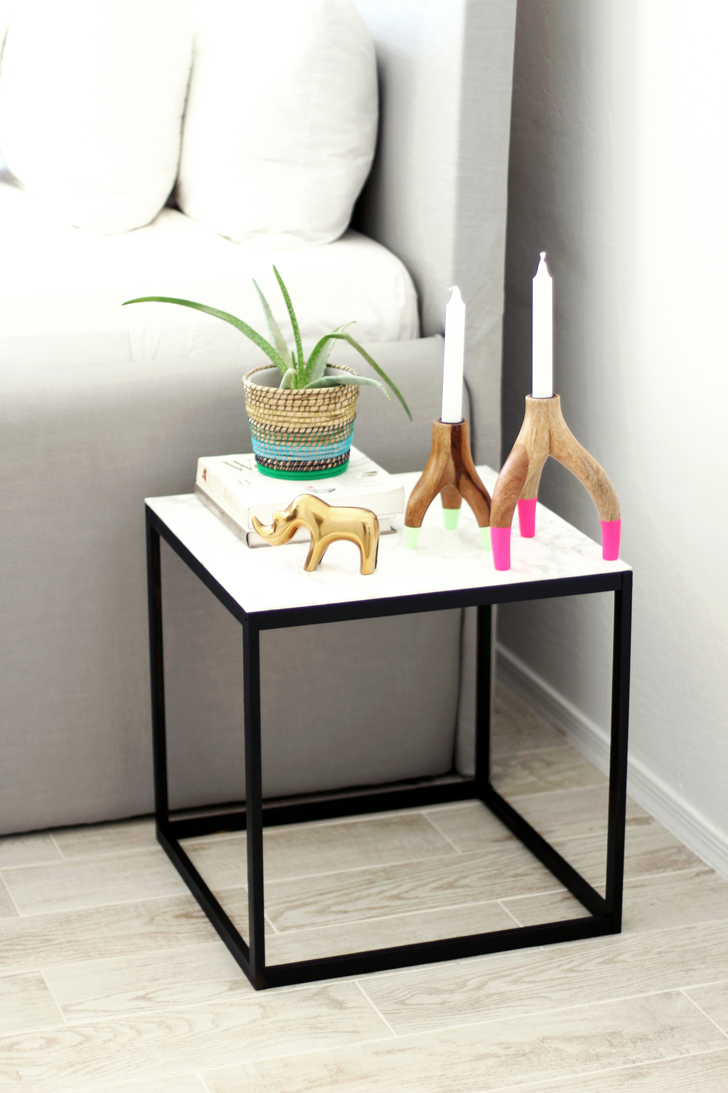 West Elm Inspired DIY Marble Table — Kristi Murphy