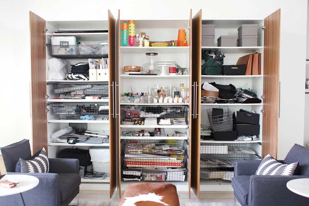 disorganized everything cabinet