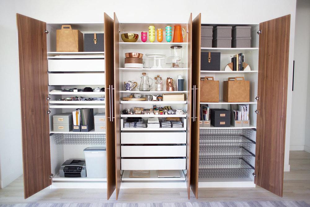 organized everything cabinet