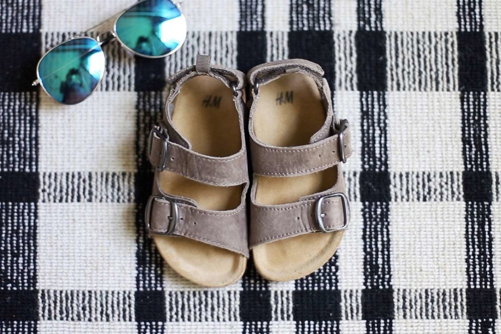 Easter picnic boys H&M birkenstocks