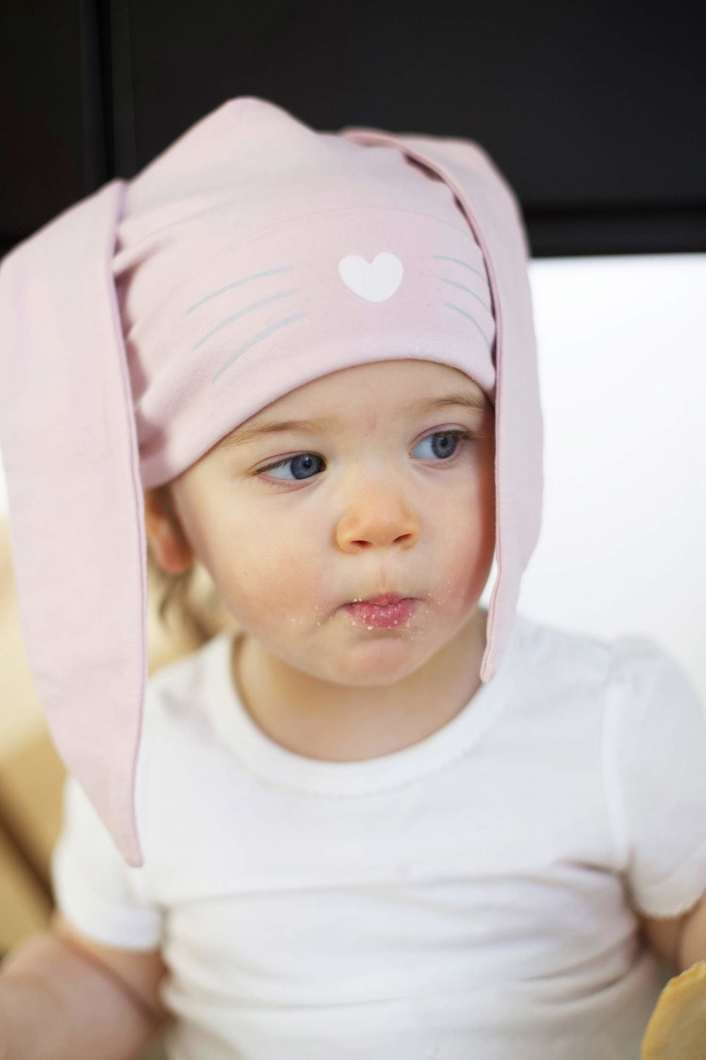 spring bake baby or toddler girl hat with ears