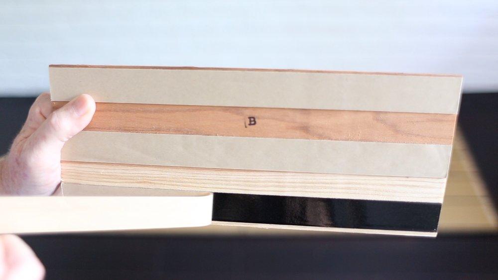 peeling back of wood boards Stikwood Stikit headboard