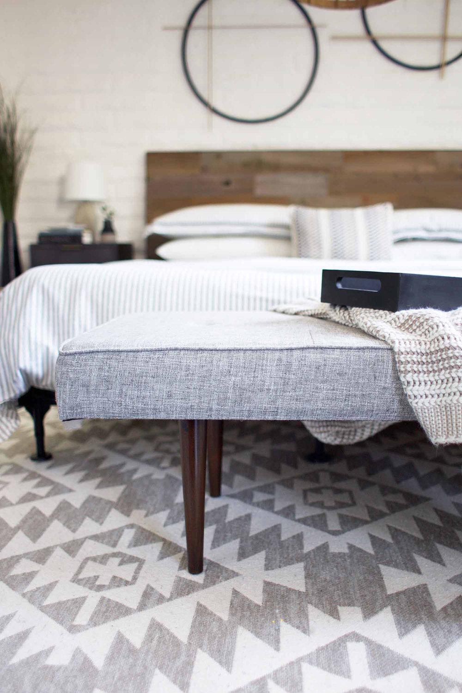 bench at foot of bed