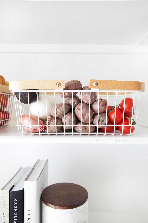 pantry reveal produce basket