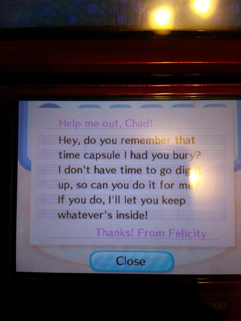 The letter Felicity sent to me. Man, I'm sad.