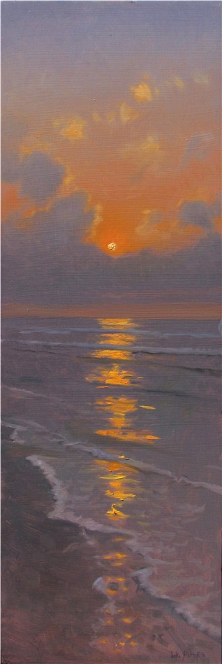 "Artist: Luke Allsbrook, ""Topsail--Sunrise Over Storm Clouds"""