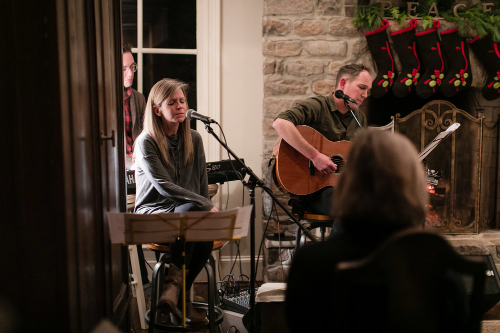 InSpero hosted a beautiful Christmas Vespers service this year led by Corey Nolen, Ashley Spurling and Chandler Parker at the Wilson home. Photo by Emily Kicklighter