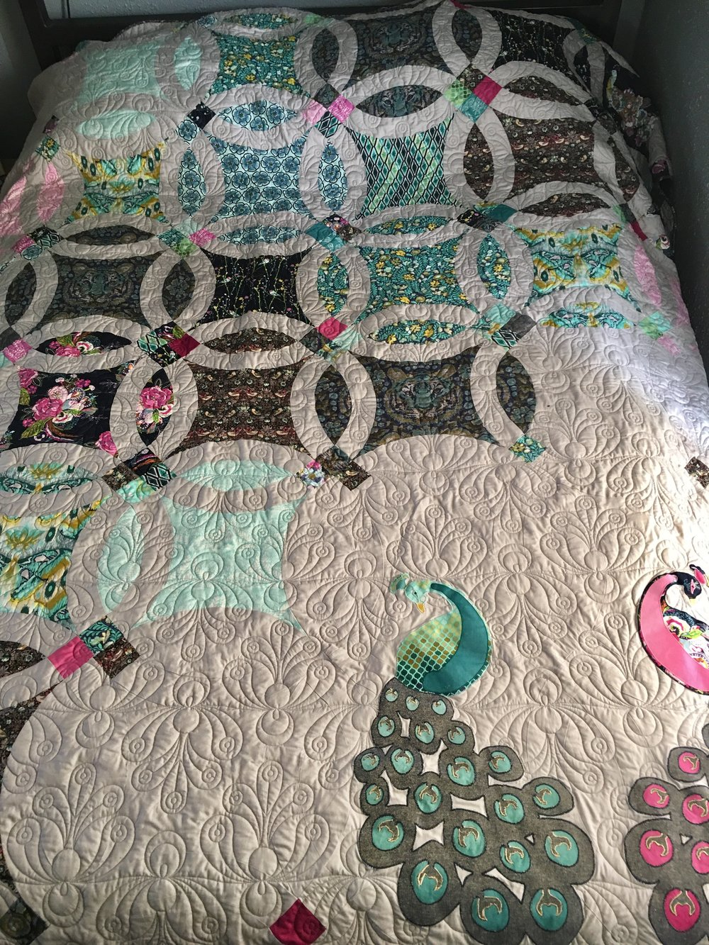 Custom Double Wedding Ring Quilt