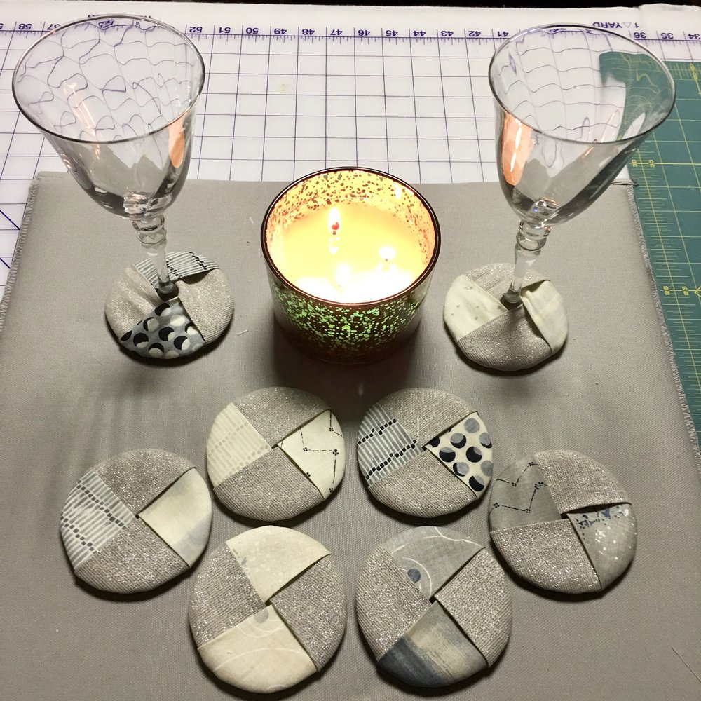 Wine Glass Coasters