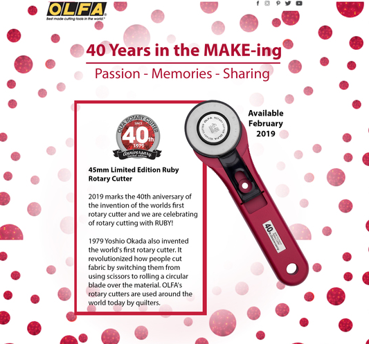 Check out the upcoming new Olfa Ruby Rotary Cutter
