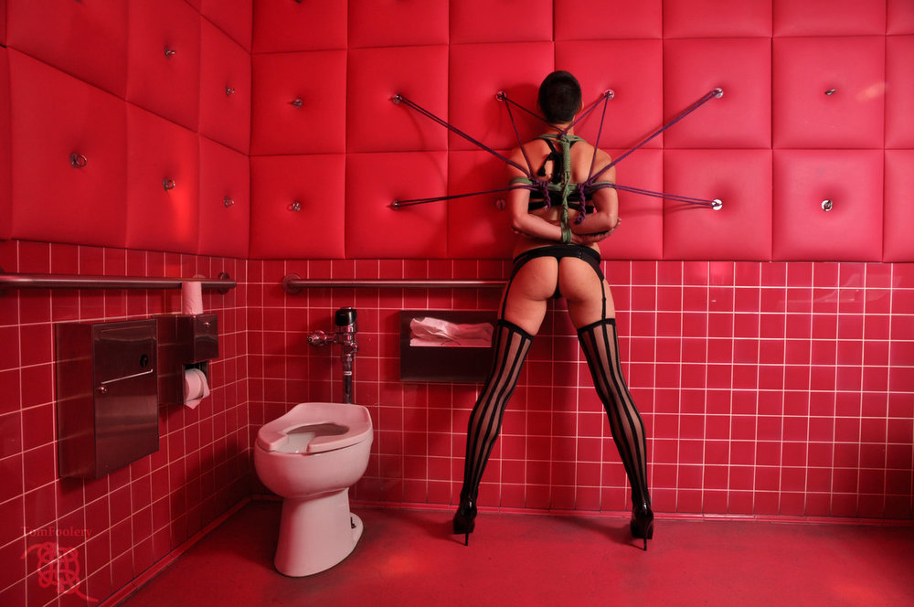 Tied Up In The Bathroom