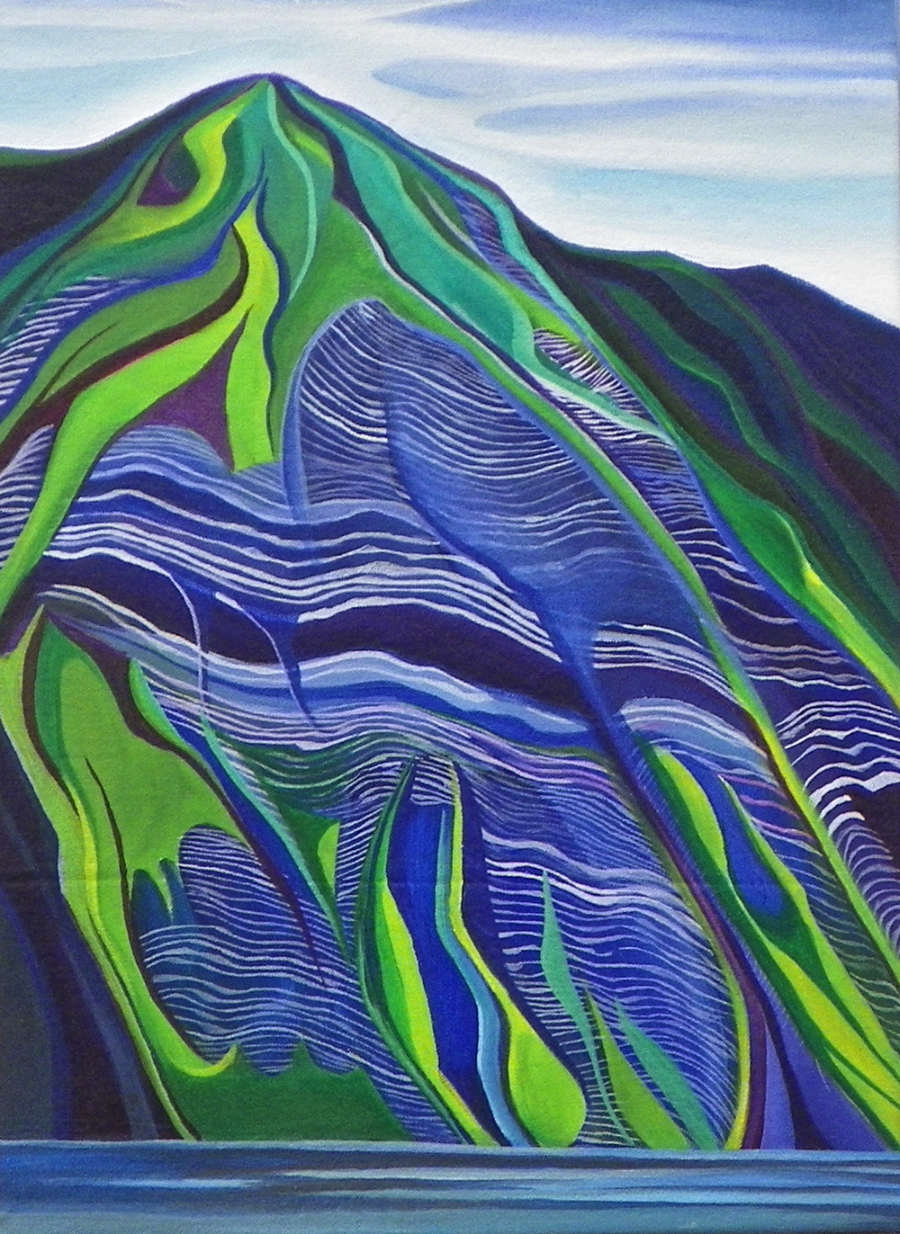 "Beiderman's Bluff -  Oil and a crylic   on canvas - 22"" x 16"" - 2012"