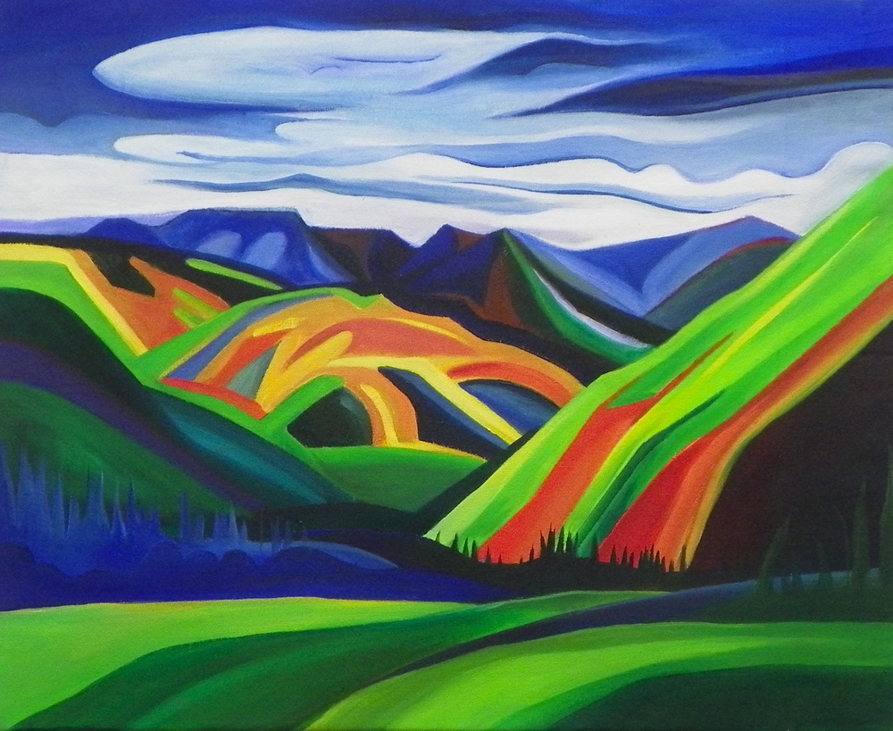 "Coal Creek -   Acrylic   on canvas - 22"" x 28"" - 2012"