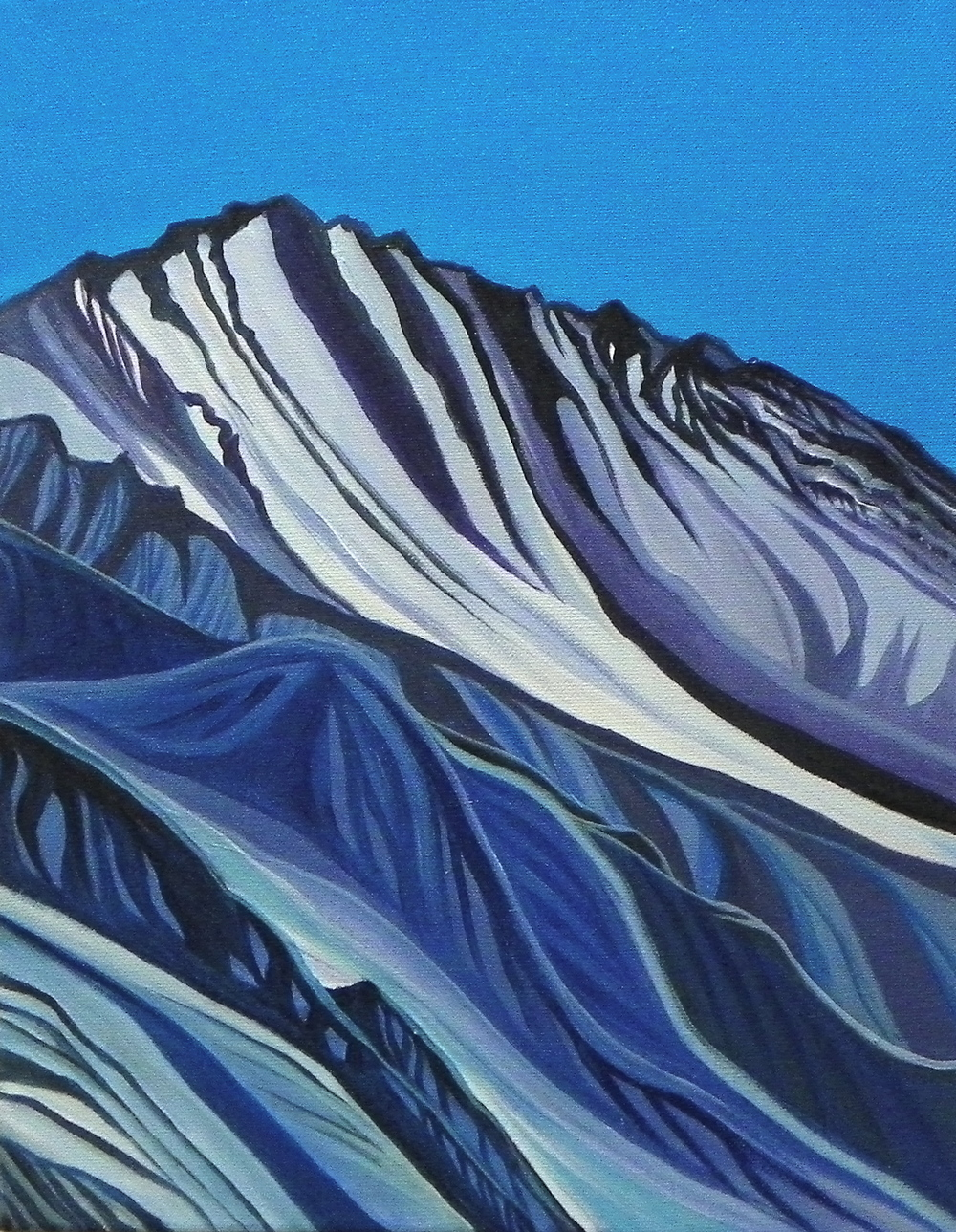 "Purple Mountain Majesty -   Acrylic   on canvas - 14"" x 11"" - 2014"