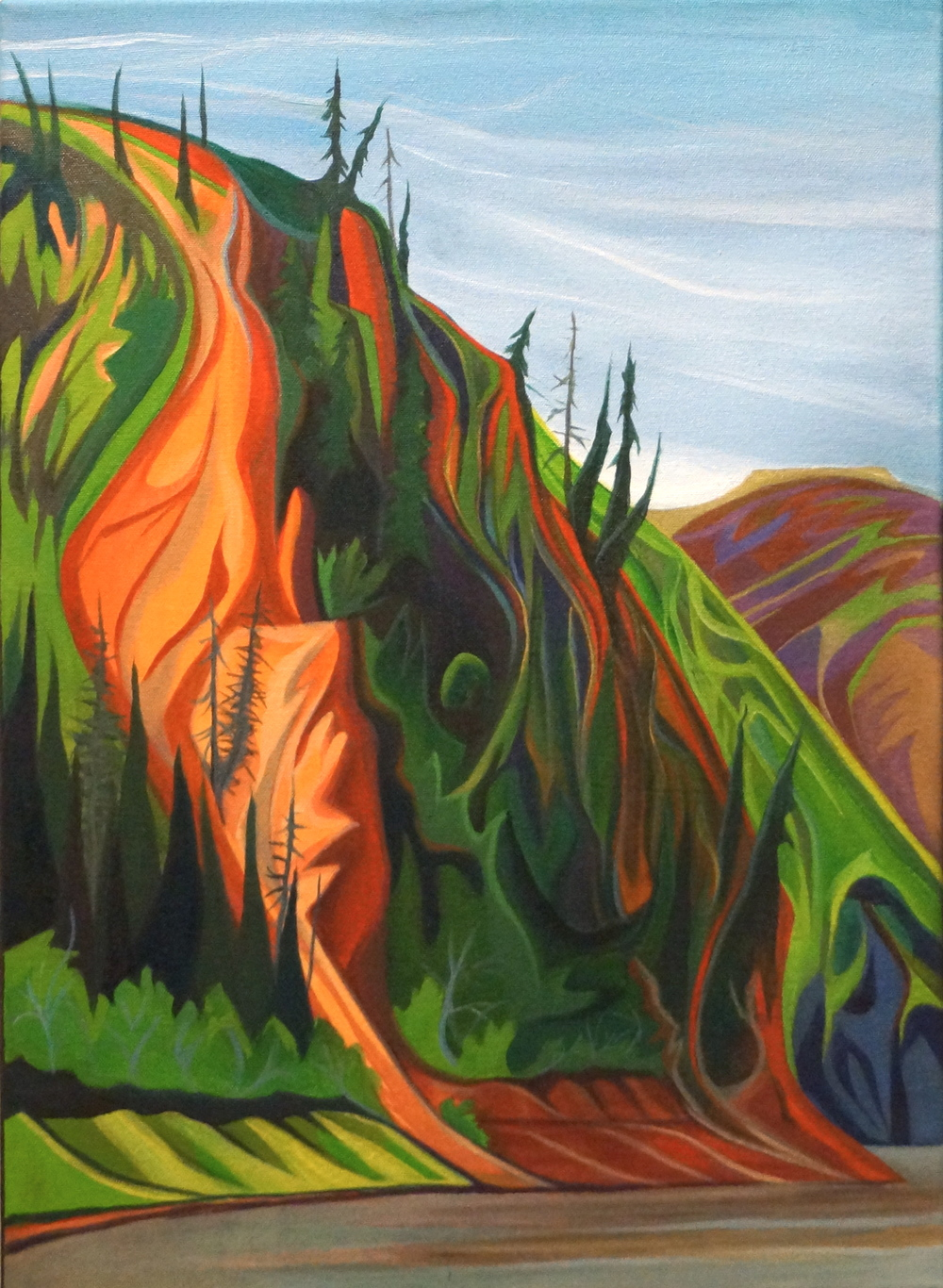 "Yukon Bluff -   Acrylic   on canvas - 22"" x 16"" - 2013"