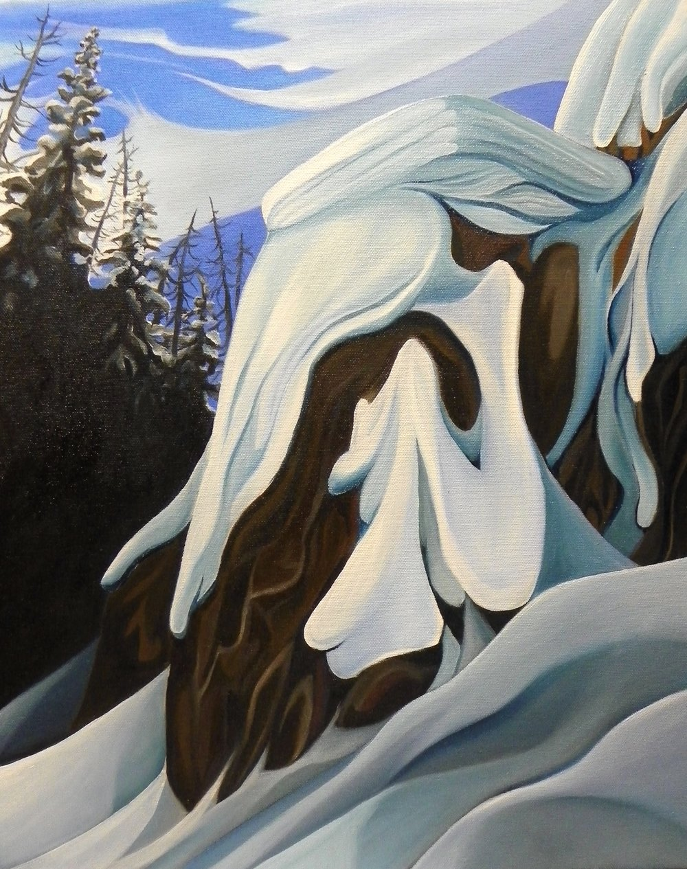 "Crystal Cliff -  Oil on canvas - 20"" x 16"" - 2014"