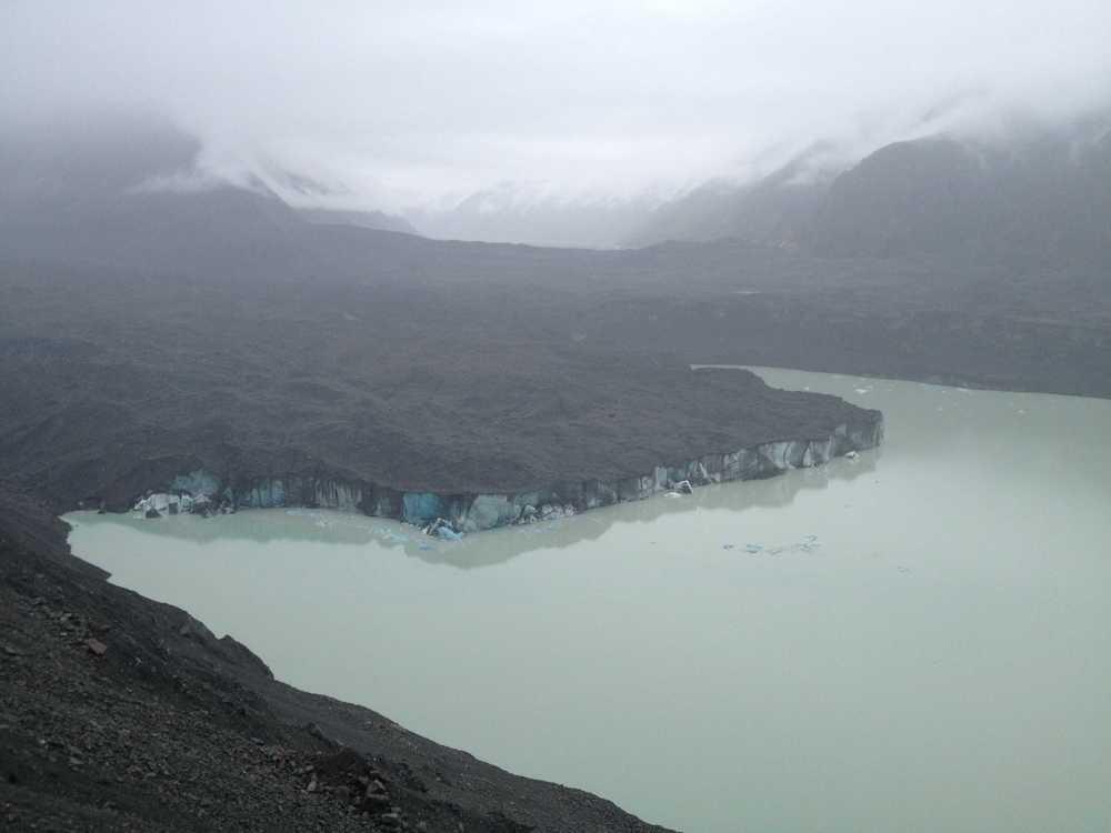 The terminus of Tasman Glacier.