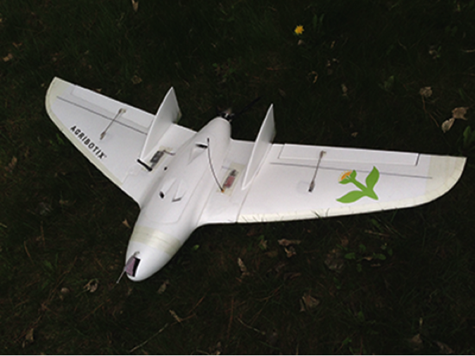 The Agribotix flying wing design is easy to launch, rapid to assemble, extremely robust, and excellent in the wind.