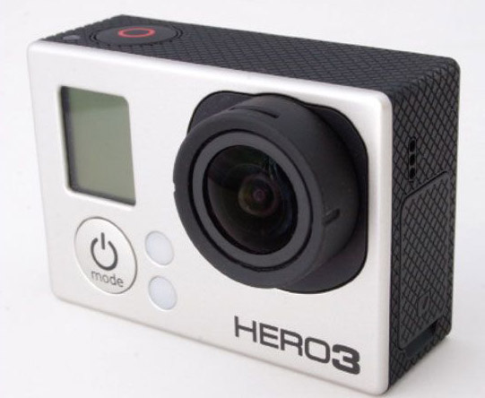 With the waterproof housing removed, the GoPro is REALLY small.