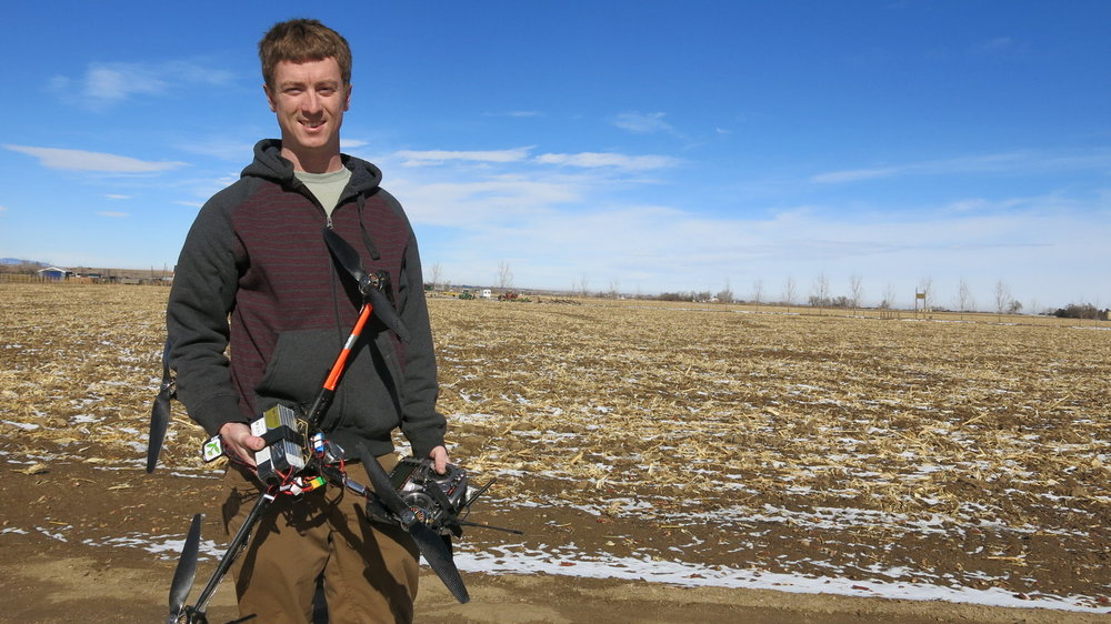 Jimmy Underhill at the Anderson Farm in Weld County.