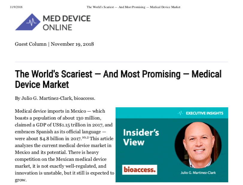 Mexico: The World's Scariest — And Most Promising — Medical Device Market