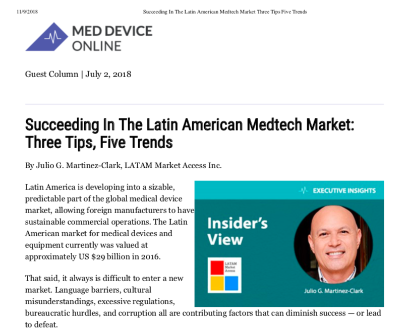 Succeeding in the Latin American Medtech Medical Device Market