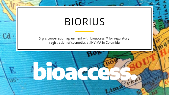 Biorius and bioaccess ™ Sign Cooperation Agreement for