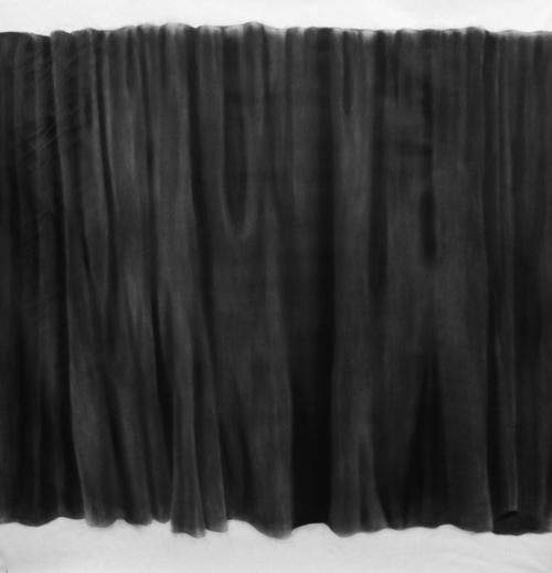 """Soo Shin\ Blind\ oil color on canvas\ h34"""" x d34""""\2012"""