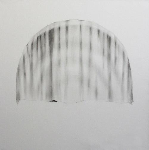 "Soo Shin\ Blind\ oil color on canvas\ h 32"" w 32""\ 2012"