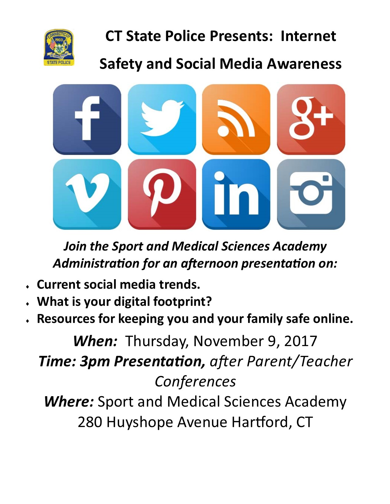 CT State Police Presentation for Parents - Internet Safety
