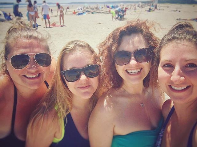 Beach day yesterday with these babes!