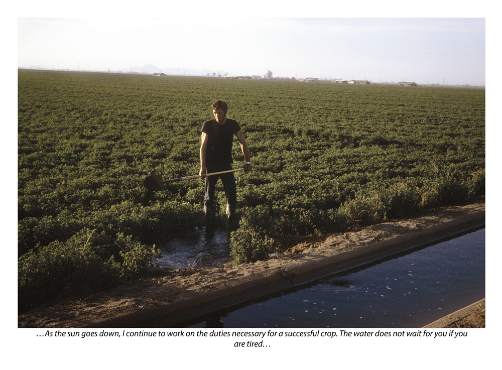 Irrigation (with photograph by Marvin Morrison)   Pigmented Inkjet Print © 2013, Gina DeGideo