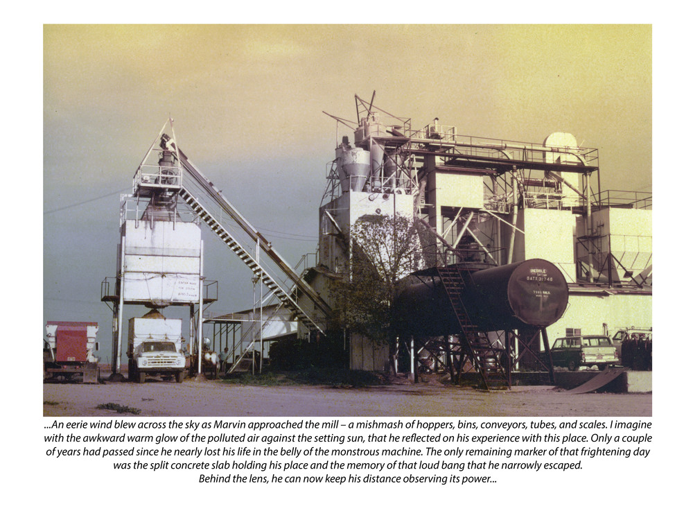 Mill (with photograph by Marvin Morrison)   Pigmented Inkjet Print © 2013, Gina DeGideo