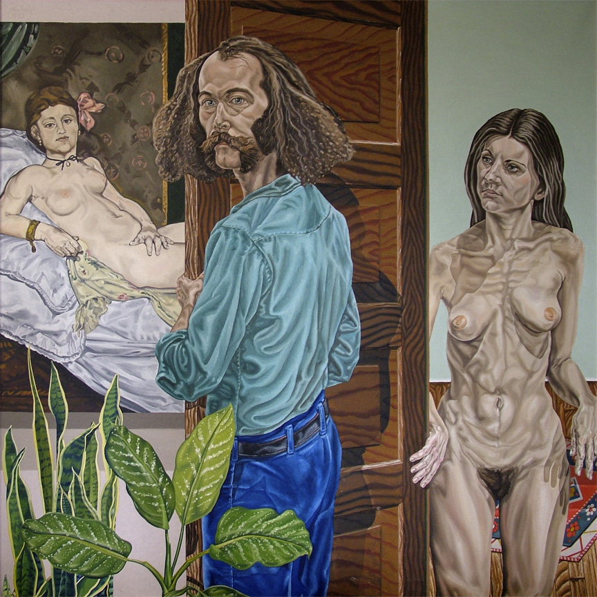 "Enter Ihlae, 1973  72"" x 72"" Oil on linen"