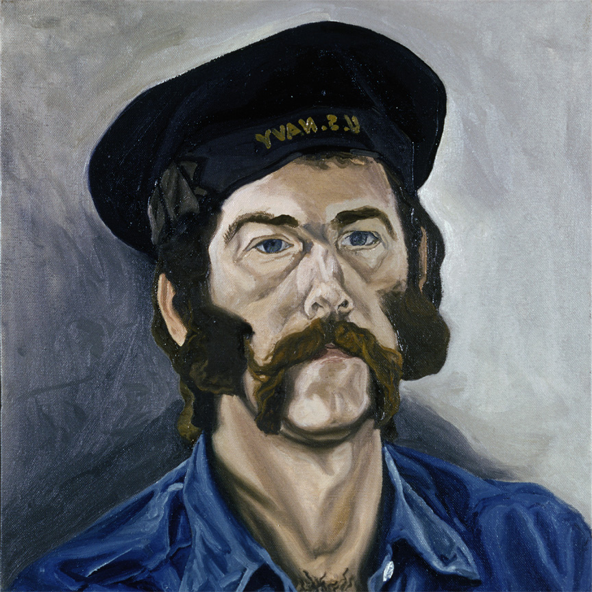 "From the Artist's Hat Collection 2, 1971   18"" x 18"" Oil on linen"
