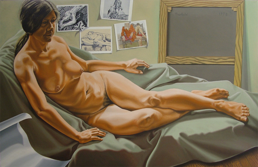 Tribute to Philip Pearlstein, 1978   Oil on linen