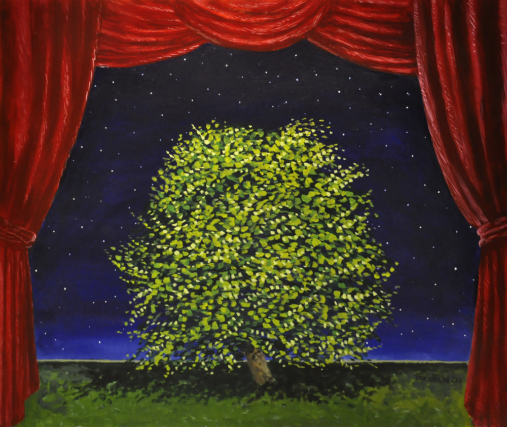 "Twelfth Night Tree, 2011   32"" x 36"" Acrylic on canvas"