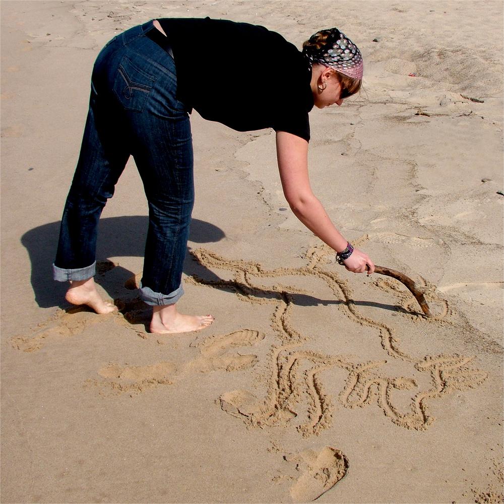"""Alexandra Semenova's Sand Dog, 2007   24"""" x 24"""""""