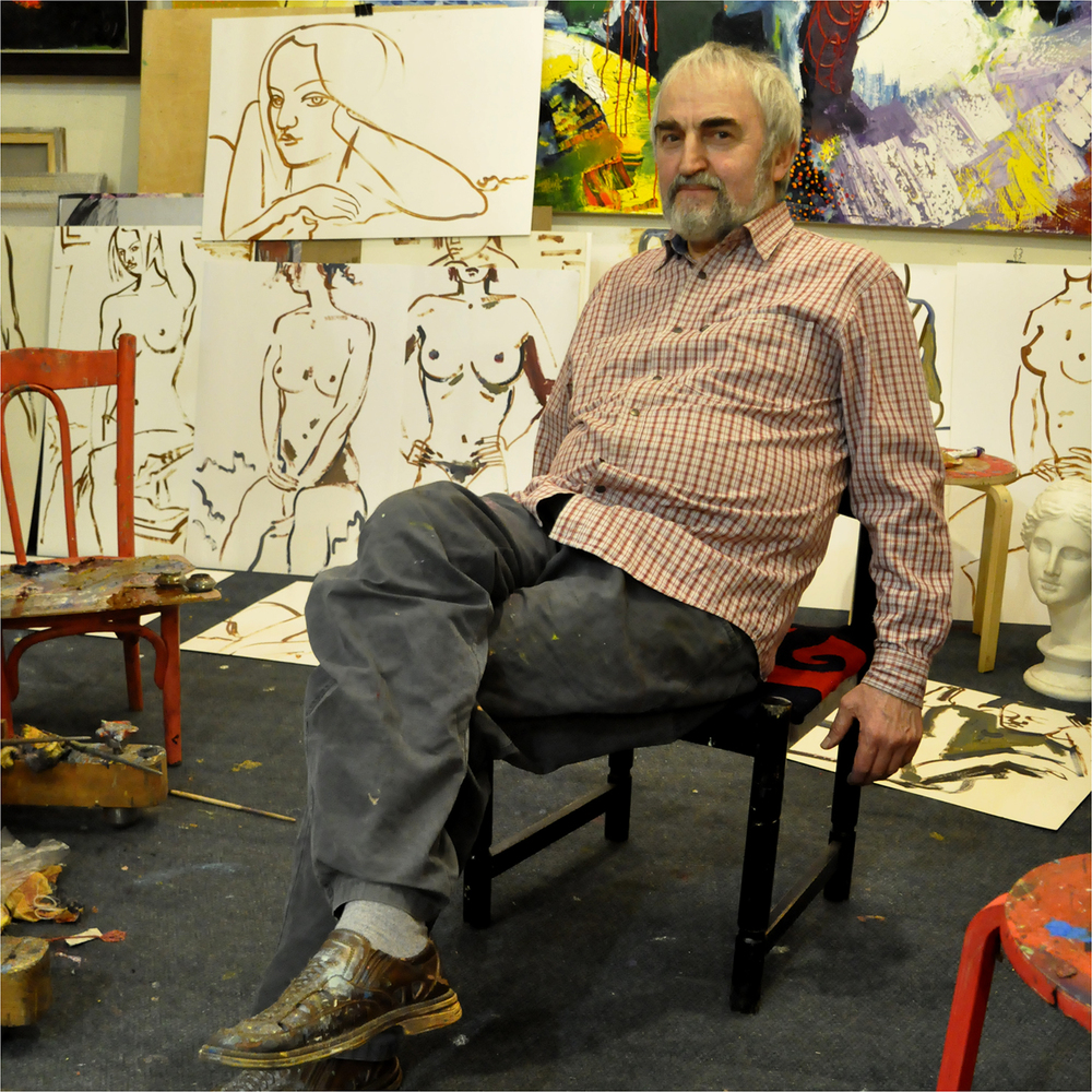 """Hadji-Marad Alikhanov in Studio, 2012   24"""" x 24'"""