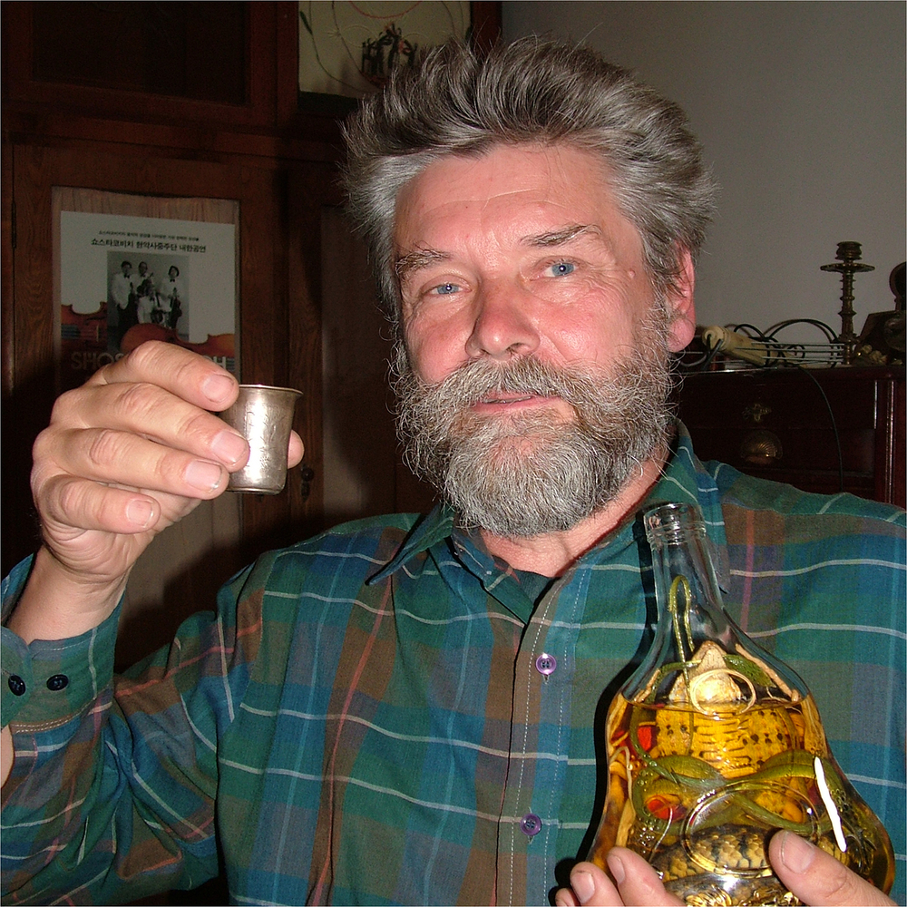 "Sergei Pishchugin with Vietnamese Cobra Spirits, 2004   24"" x 24"""